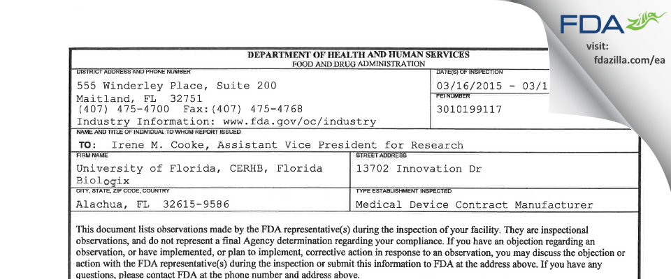 Brammer Bio FDA inspection 483 Mar 2015