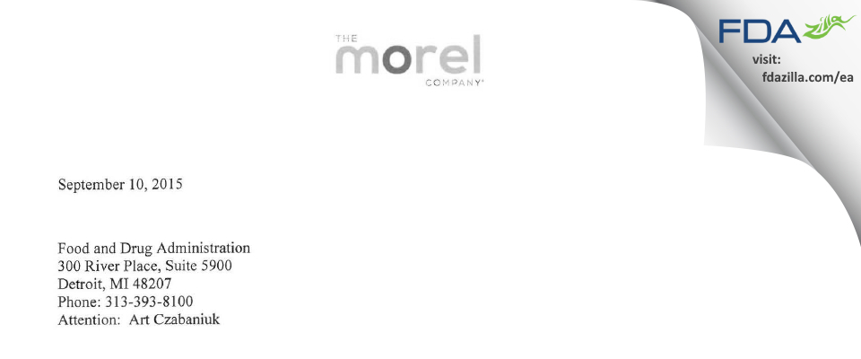 The Morel Company FDA inspection 483 Aug 2015