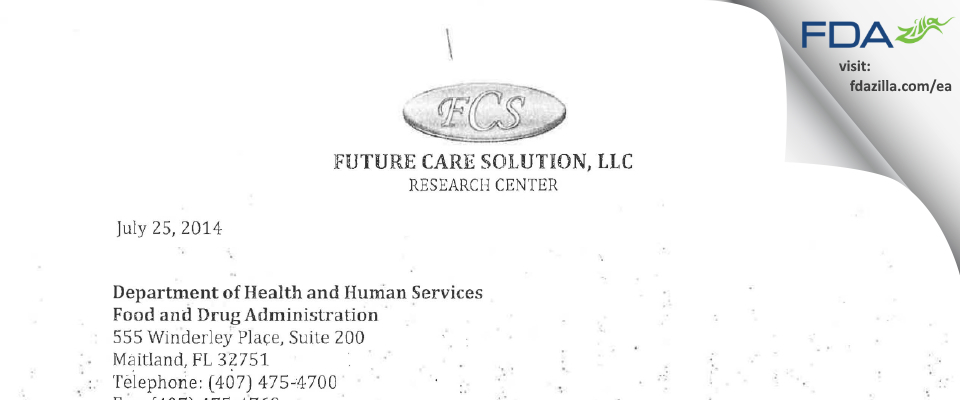 Alvaro J. Ocampo FDA inspection 483 Jul 2014