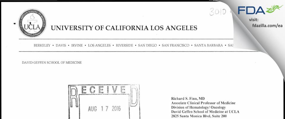 Richard S. Finn, M.D. FDA inspection 483 Jul 2016