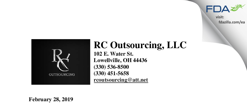 RC Outsourcing FDA inspection 483 Feb 2019