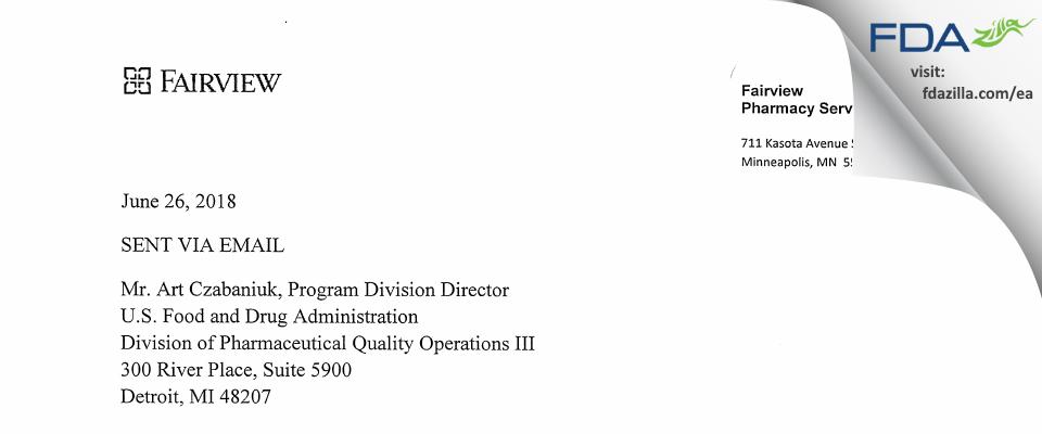Fairview Compounding Phamacy FDA inspection 483 Apr 2018
