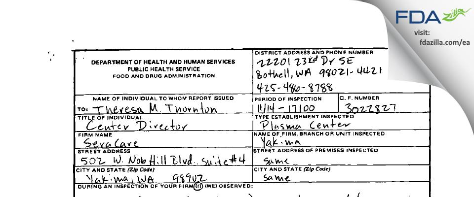 KEDPlasma FDA inspection 483 Nov 2000