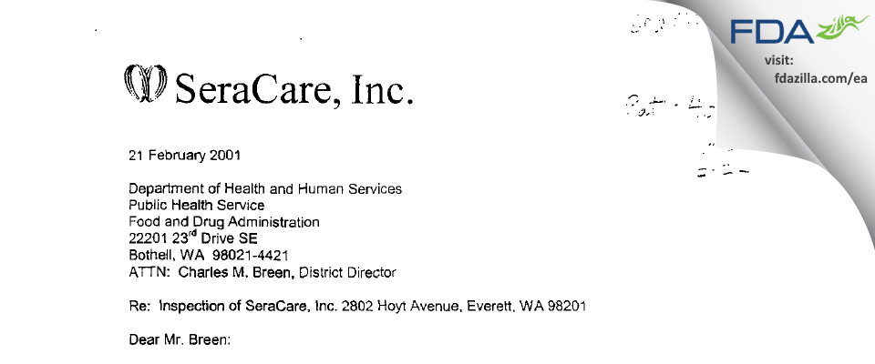 Biomat USA FDA inspection 483 Feb 2001